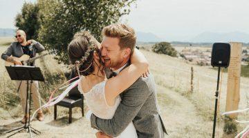 Hochzeitspaar bei Freier Trauung