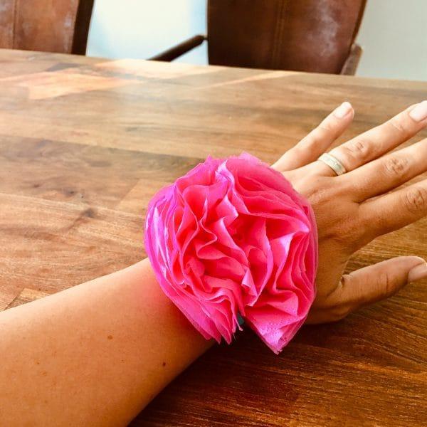 Blumenarmband selber machen