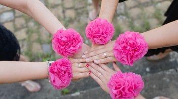 Blumenarmband aus Serviette