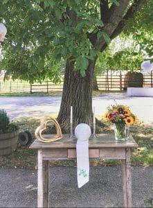 Trautisch Altar für Freie Trauung