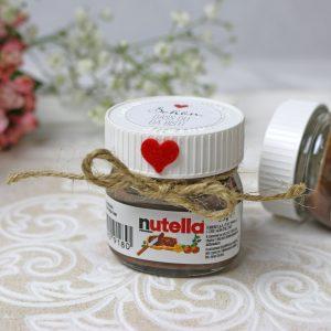 Mini-Nutella-Glas als Gastgeschenk
